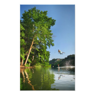 Ladybird Lake Rope Swing - Austin Texas Art Photo
