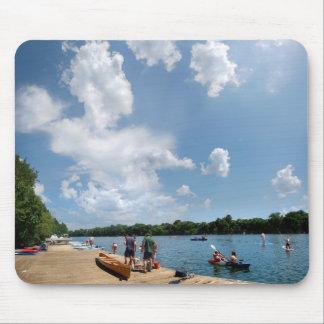 Ladybird Lake Rowing Dock - Austin Texas Mouse Pad