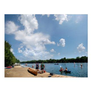 Ladybird Lake Rowing Dock - Austin Texas Postcard