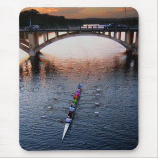 Ladybird Lake Rowing Scull Sunset - Austin Texas Mouse Pad