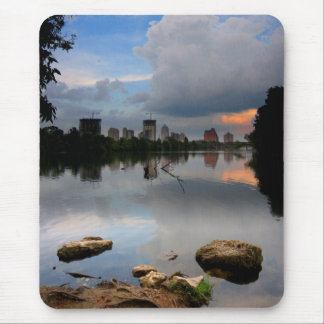 Ladybird Lake Sunrise 1 - Austin Texas Skyline Mouse Pad