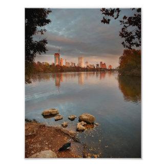 Ladybird Lake Sunrise 2 - Austin Texas Skyline Photo Print