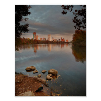 Ladybird Lake Sunrise 2 - Austin Texas Skyline Print