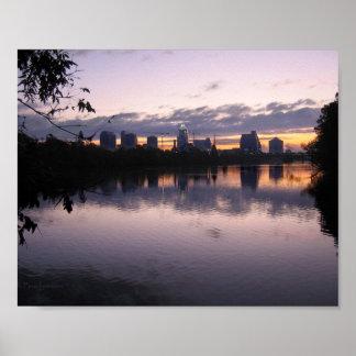 Ladybird Lake Sunrise 3 - Austin Texas Skyline Poster