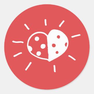 Ladybird love sticker