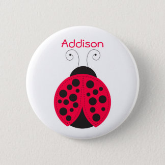 Ladybird Name badge Pinback Button