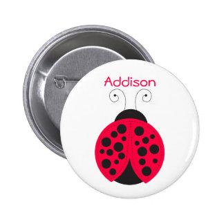 Ladybird Name badge Pinback Button