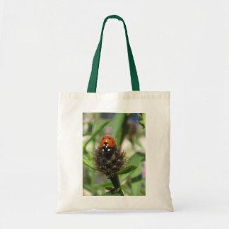 Ladybird On Black Knapweed Budget Tote Bag