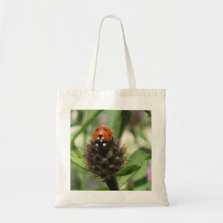 Ladybird On Black Knapweed - Budget Tote Bag