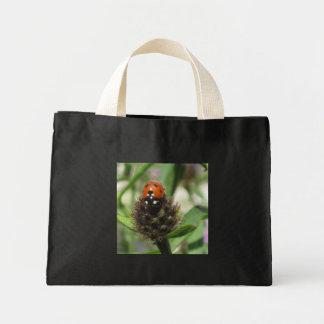 Ladybird On Black Knapweed Tiny Tote