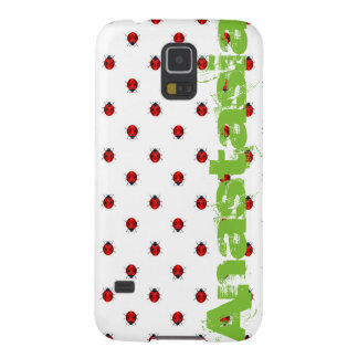ladybird over white with green name case for galaxy s5