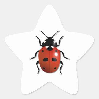 Ladybird Star Sticker