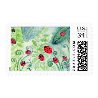 Ladybirds Postage Stamp