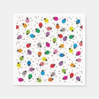 Ladybirds Rainbow Paper Napkins