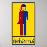 Ladyboy / Tomboy Toilet ⚠ Thai Sign ⚠ Poster