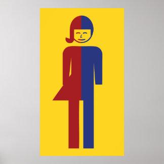 Ladyboy / Tomboy Toilet ⚠ Thai Sign ⚠ Posters