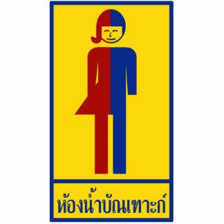 Ladyboy / Tomboy Toilet ⚠ Thai Sign ⚠ Standing Photo Sculpture