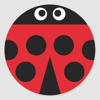 ladybug 1 classic round sticker