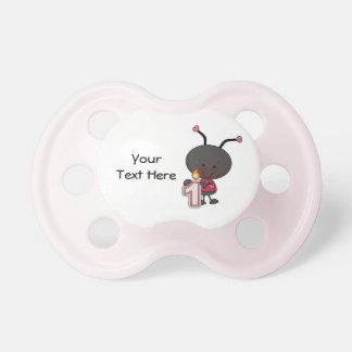 Ladybug 1 Year (customizable) Pacifier