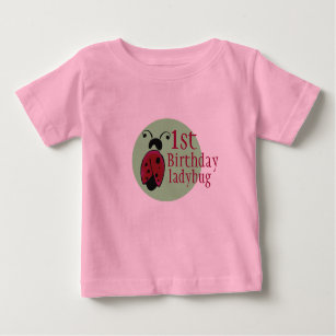 a096a12a Ladybug Birthday T-Shirts - T-Shirt Design & Printing | Zazzle