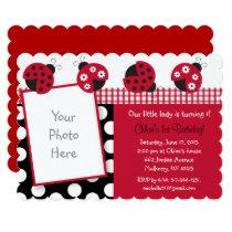 Ladybug 1st Birthday Card