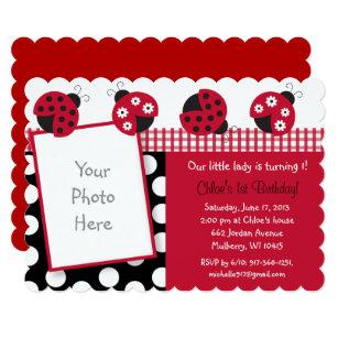 Ladybug 1st birthday invitations announcements zazzle ladybug 1st birthday invitation filmwisefo