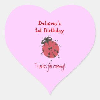 Ladybug 1st birthday sticker