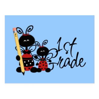 Ladybug 1st Grade Tshirts and Gifts Postcard