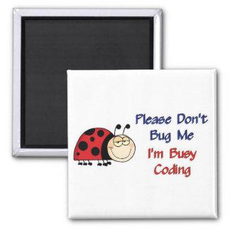 Ladybug-2 Medical Coder 2 Inch Square Magnet