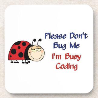 Ladybug-2 Medical Coder Beverage Coaster