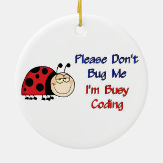 Ladybug-2 Medical Coder Christmas Tree Ornaments
