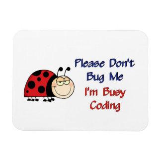 Ladybug-2 Medical Coder Rectangular Photo Magnet