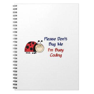 Ladybug-2 Medical Coder Spiral Notebook