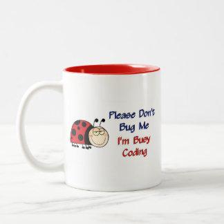 Ladybug-2 Medical Coder Two-Tone Coffee Mug