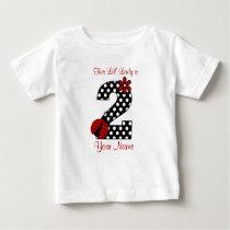 Ladybug 2nd Birthday Shirt