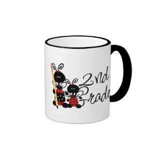 Ladybug 2nd Grade Tshirts and Gifts Ringer Coffee Mug