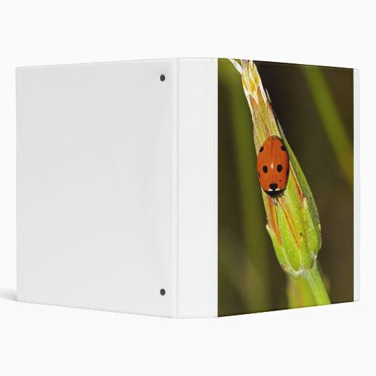 Ladybug 3 Ring Binder