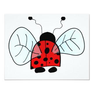 Ladybug 4.25x5.5 Paper Invitation Card