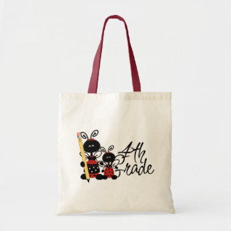 Ladybug 4th Grade Tshirts and Gifts Canvas Bags