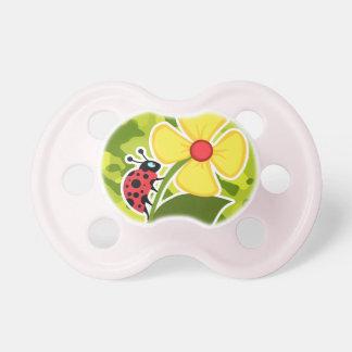 Ladybug; Acid Green Camo; Camouflage Baby Pacifier