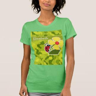 Ladybug; Acid Green Camo; Camouflage T-shirts