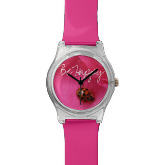 Ladybug and a Rose Watches