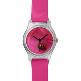 Ladybug and a Rose Wrist Watch