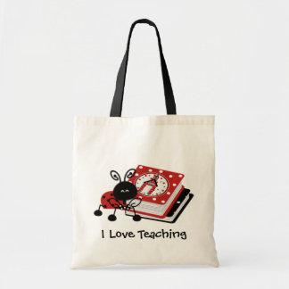 Ladybug and Books Teacher's Tote Bag