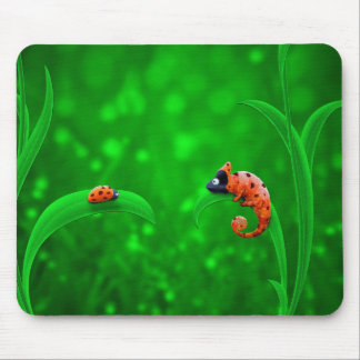 Ladybug and Chameleon Mouse Pad