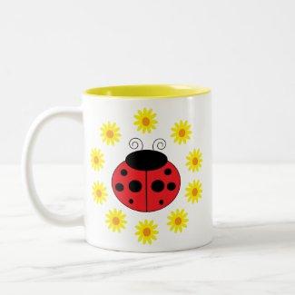 Ladybug and Daisies Mug mug