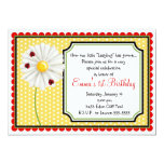 Ladybug  and Daisy Birthday Invitations