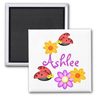 Ladybug and Flowers Magnet