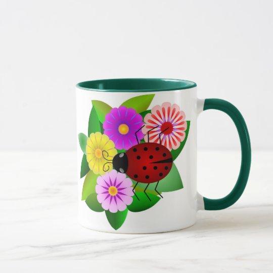 Ladybug and Flowers Mug
