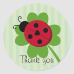 Ladybug and Four-leaf Clover Stickers